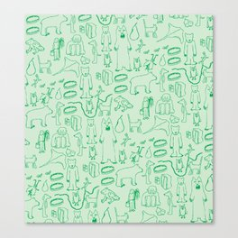green montage Canvas Print