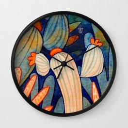 Succulent Design Wall Clock
