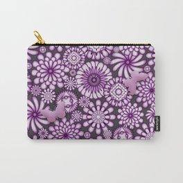 Ceramic Flowers & Butterflies (Acai) Carry-All Pouch
