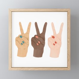Peace Hands Framed Mini Art Print