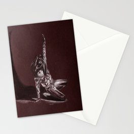 Black and White Drawing Stationery Cards