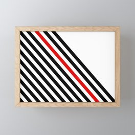 80s stripes Framed Mini Art Print