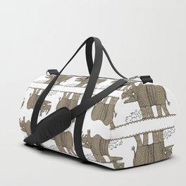 lonely rhinoceros Duffle Bag