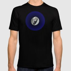 DOUBLE YIN AND YANG IN SPACE Mens Fitted Tee Black MEDIUM