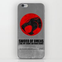 thundercats iPhone & iPod Skins featuring Thundercats (Super Minimalist series) by Itomi Bhaa