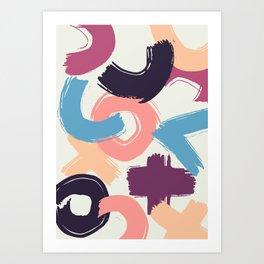 Abstract pattern Art Print