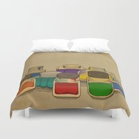 ink Duvet Covers featuring Ink by Megs stuff