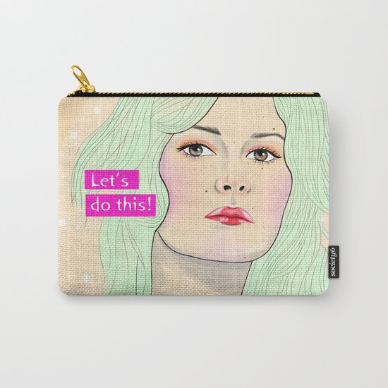 Green Hair Girl Carry-All Pouch