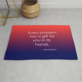 Richard Bach Quote Rug