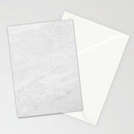 Milestone White - Stone Texture Stationery Cards