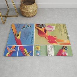 1971 Hot Wheels Italians Dealer's Catalog Redline Show Store Poster Rug