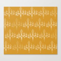 chandelier Canvas Prints featuring CHANDELIER by Dash of noir