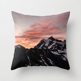 Pink Sky - Cascade Mountains - Nature Photography Throw Pillow
