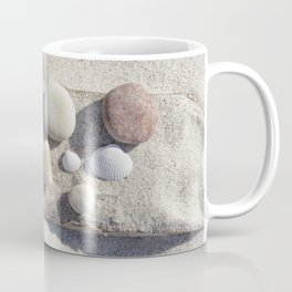 Beach pebble driftwood still life Coffee Mug