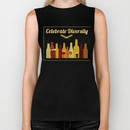 Celebrate Diversity Craft Beer Drinking  Biker Tank