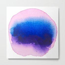 violet water colour Metal Print