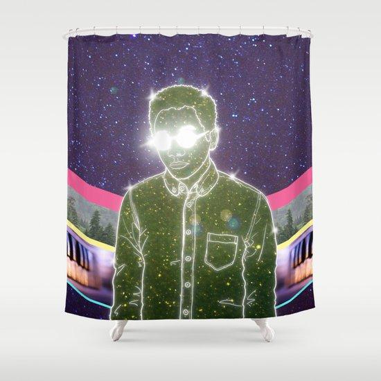 """Anything in Return"" by Tim Lukowiak Shower Curtain"