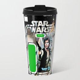 Han Solo Vintage Action Figure Card Travel Mug