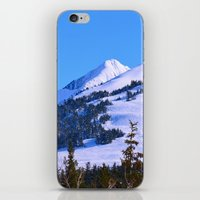 skiing iPhone & iPod Skins featuring Back-Country Skiing  - IV by Alaskan Momma Bear