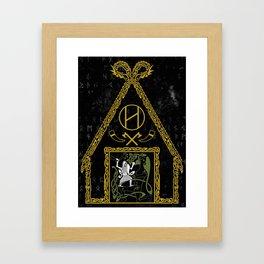 Beowulf Vs Grendel Framed Art Print