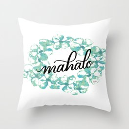 Thank you Mahalo from Hawaii Throw Pillow