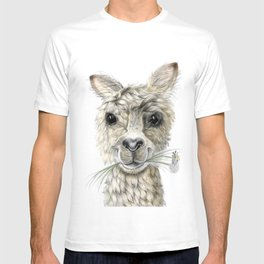 Alpaca eating Daisies T-shirt