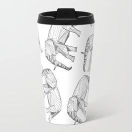 African Animals - Elephant White Travel Mug