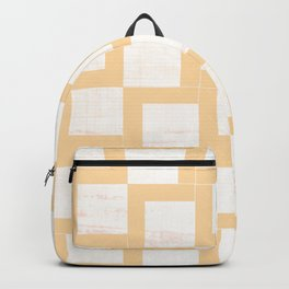Soft Gold Geometric Shapes On Japanese Paper Backpack