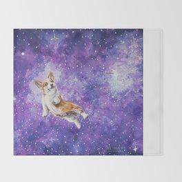 Space Corgi Throw Blanket