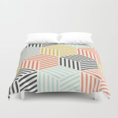Colorful Geometric Duvet Cover