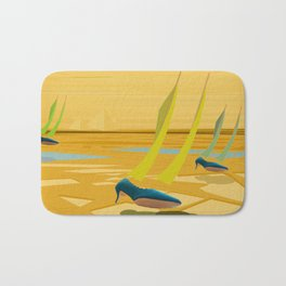 May Down Stream in Slow Motion - shoes stories Bath Mat