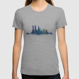 NY New York City Skyline NYC Watercolor art T-shirt