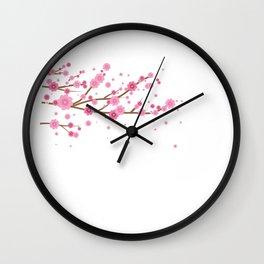 Washington Floral Elegant Holiday Skyline Gift Wall Clock