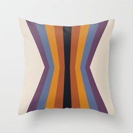 Bold Vintage Color Reflection Throw Pillow