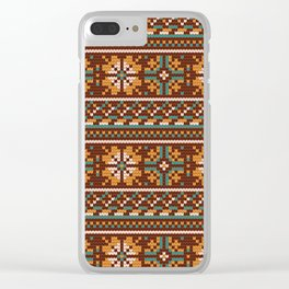 Pattern in Grandma Style #21 Clear iPhone Case