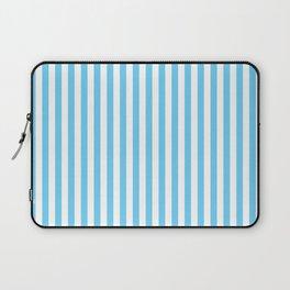 Small Vertical Light Blue Stripes Laptop Sleeve