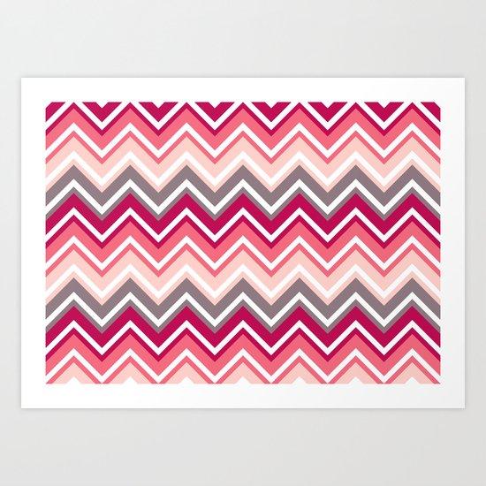 Pink Zig Zag Art Print