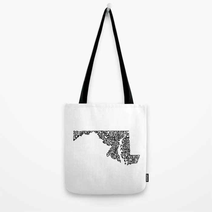 Typographic Maryland Tote Bag