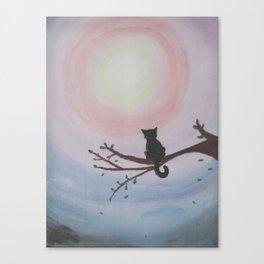 Watching a Hopeful Sunset Canvas Print