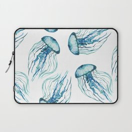 Watercolor Aqua Jellyfish Laptop Sleeve