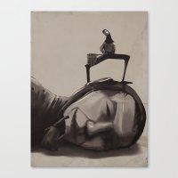 scuba Canvas Prints featuring Scuba diver by antoniopiedade