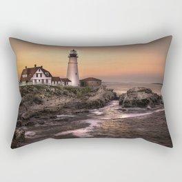 Lighthouse Landscape Rectangular Pillow