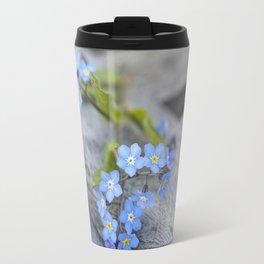 blue flower Fortget Me Not Travel Mug