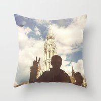 budapest Throw Pillows featuring Budapest by BriAnneWills