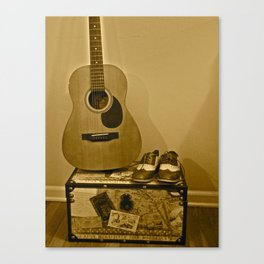 Traveling Musician  Canvas Print