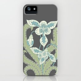 Snowdrop slate grey background iPhone Case