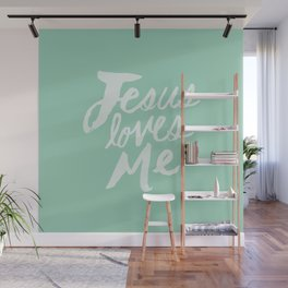 Jesus Loves Me x Mint Wall Mural