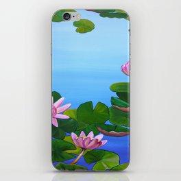 Waterlilies Pink iPhone Skin