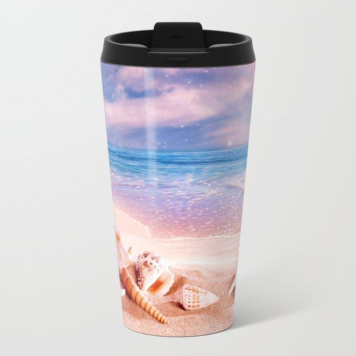 On the beach Metal Travel Mug