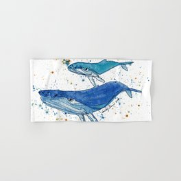 Whale Mommy and Baby Hand & Bath Towel